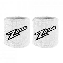 Zone Old School White/Black Wristband 2-pack